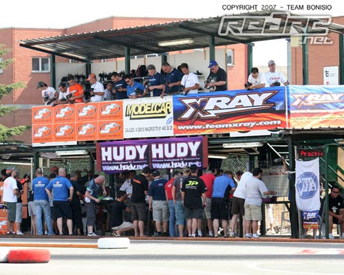 Drivers settle themselves in on opening day