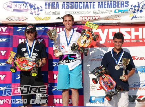 European Championship podium