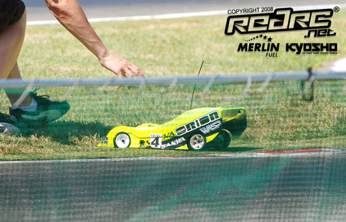 Adrien Bertin runs out of fuel